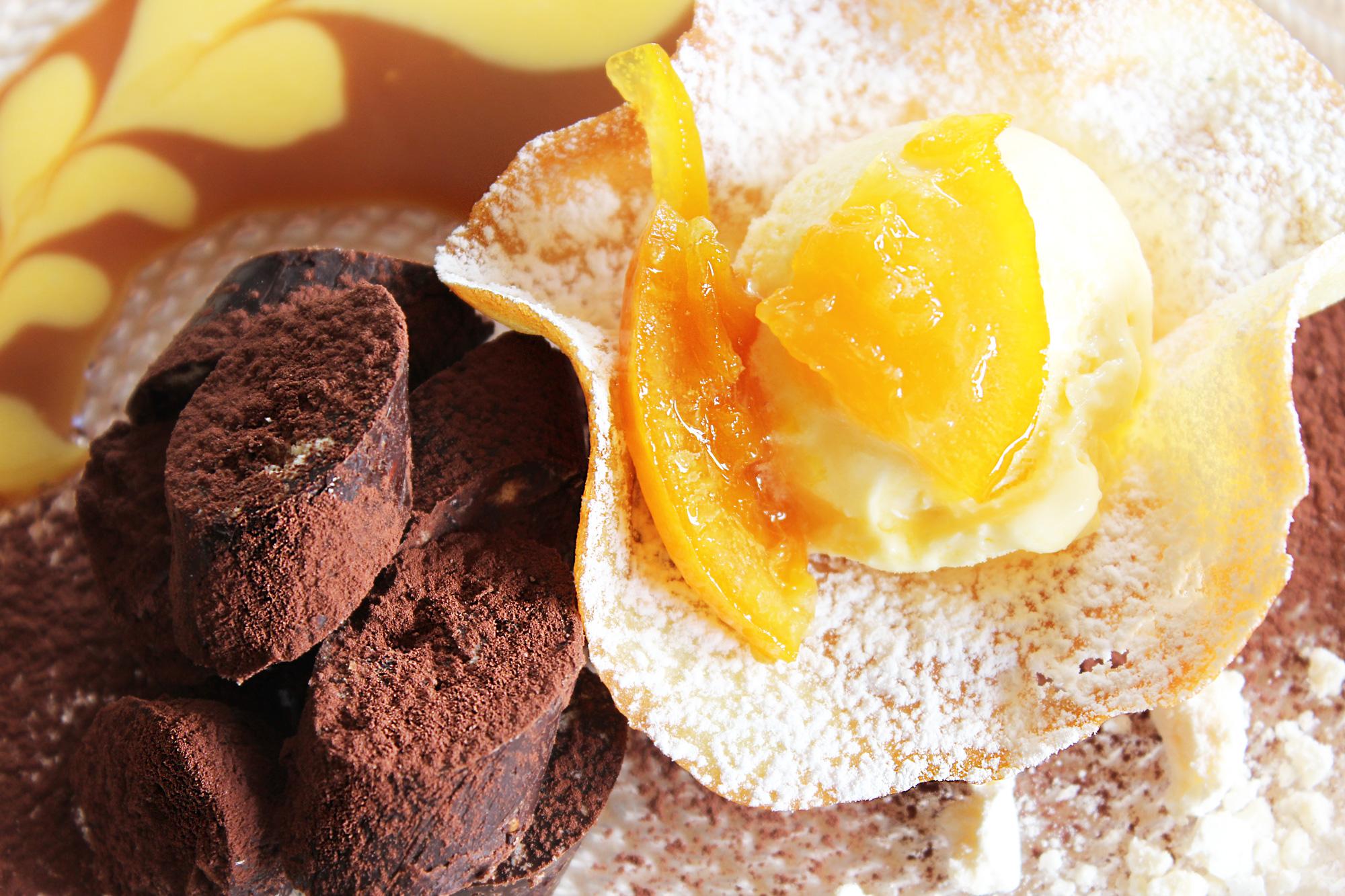 dessert cioccolato mou ristorante Le Grotte Genga